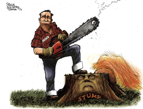 Cruz chain saw campaign